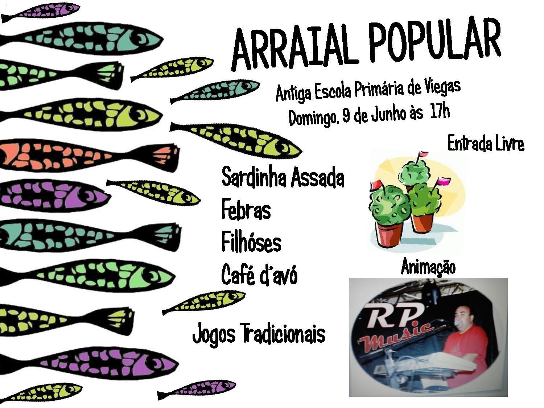 Cartaz RFViegas Arraial