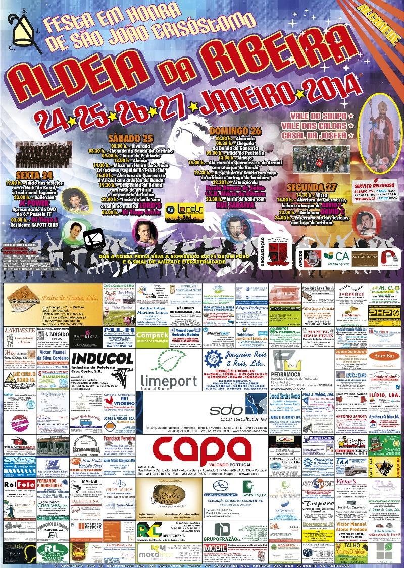 Cartaz Festa ARibeira 2014